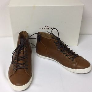 NWB Coach Pete Soft Port Saddle Brown Shoes